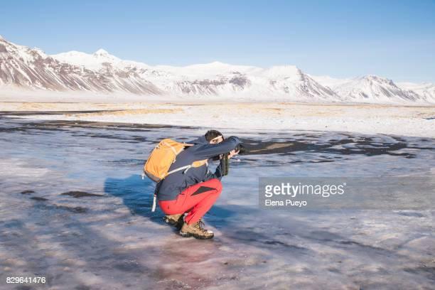 Photgrapher on Budir church, Iceland