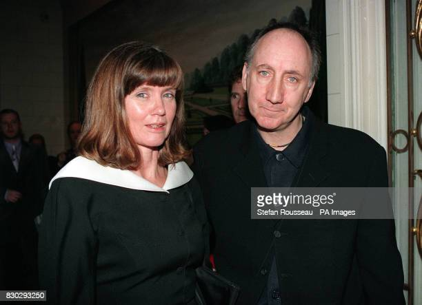PA Photo 16/2/97 Pete Townshend and his wife Karen at the Laurence Olivier Awards in London * Scotland Yard said The Who star was cautioned by police...