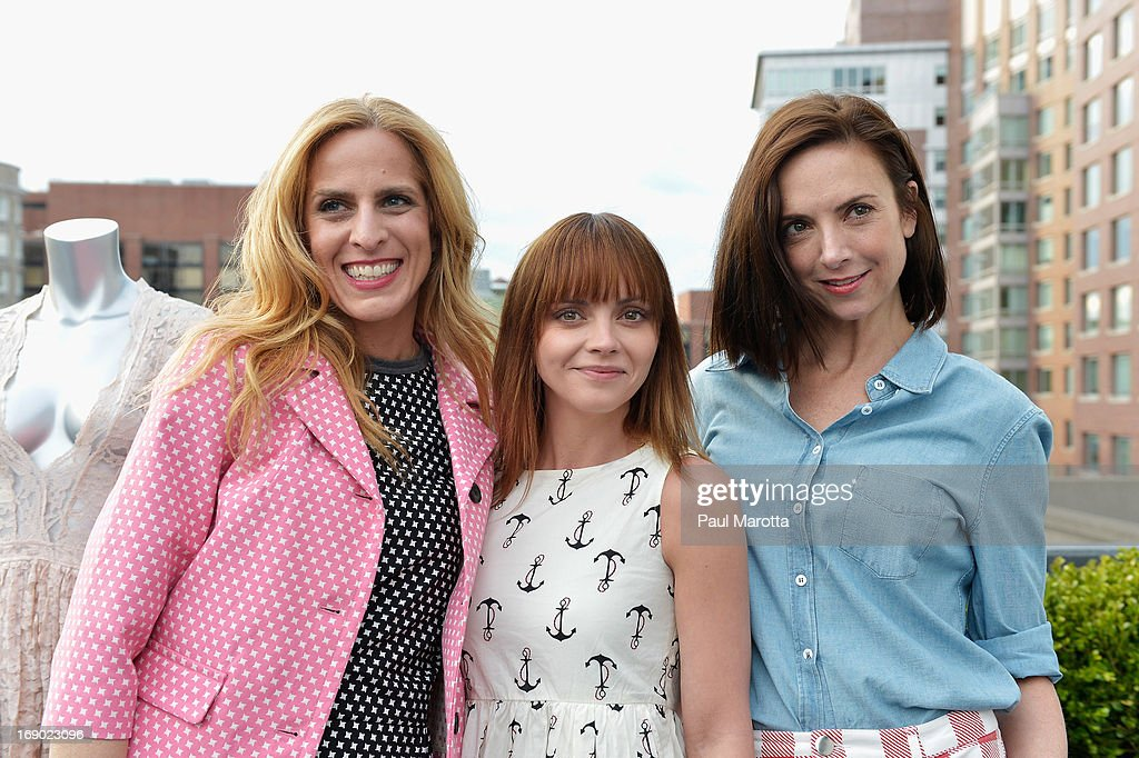 Photo Agent Karen Mulligan, <a gi-track='captionPersonalityLinkClicked' href=/galleries/search?phrase=Christina+Ricci&family=editorial&specificpeople=239510 ng-click='$event.stopPropagation()'>Christina Ricci</a>, and Vogue's Jill Demling attends Rooftop @ Revere Launch Party at The Revere Hotel on May 18, 2013 in Boston, Massachusetts.