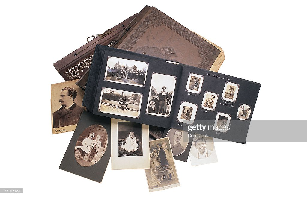 Photo albums with pictures