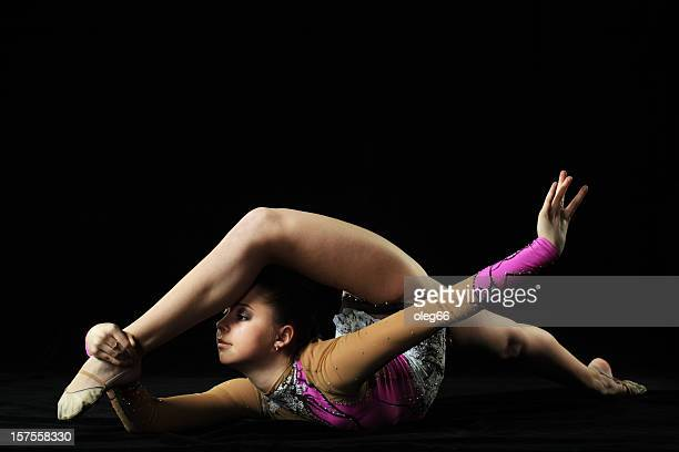 Photo athlete in gymnastics