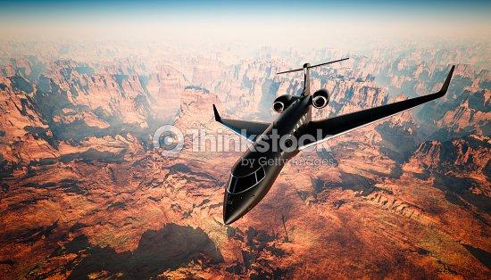 Jet Privato Volo Vuoto : Foto di lusso nero opaco generiche volo in jet privato