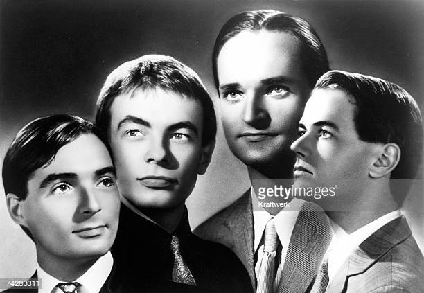 Photo by Stara/Kraftwerk/Getty Images CIRCA 1975 German electronic group Kraftwerk pose for a portrait circa 1975