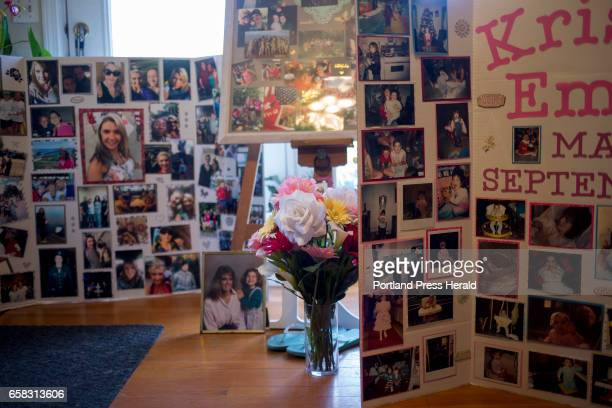 Photo collages from Kristina Emard's funeral have stayed on display in her mother Ann Howgate's home