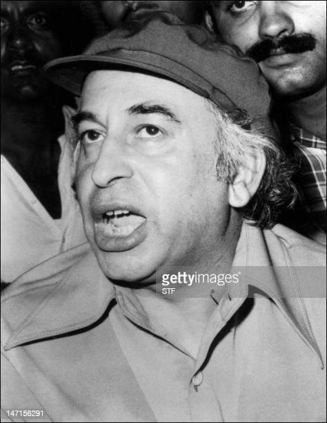 Photo datée de septembre 1977 durant la campagne électorale de Zulfikar Ali Bhutto ancien président et Premier ministre du Pakistan qui fut renversé...