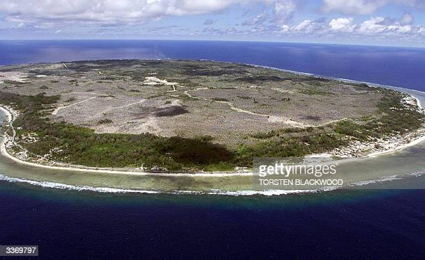 Photo dated 11 September 2001 of the bankrupt island state of Nauru the world's smallest republic which is on the verge of total financial collapse...