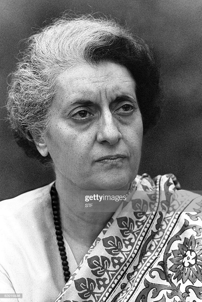 A photo dated 24 January 1976 of Indira Gandhi Prime Minister of India in 1974