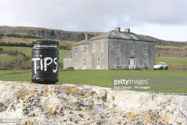 Photo dated 27/02/08 of a general view of the iconic greystone house in the heart of the Burren the reallife owner Patrick McCormack is among 20...