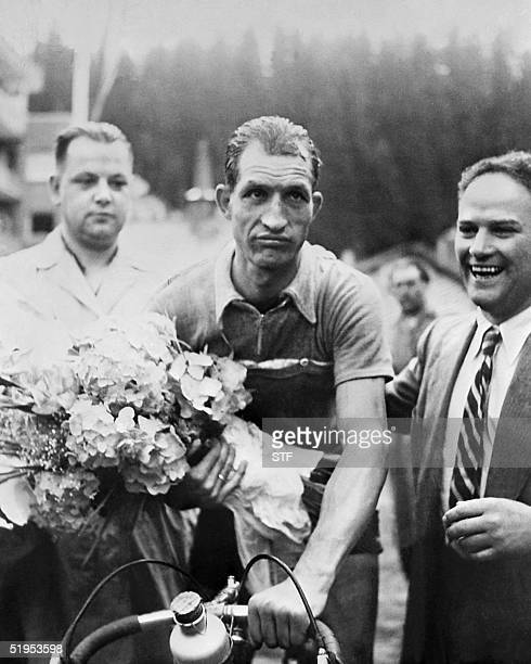 photo dated in 1952 shows Italy's cycling legend Gino Bartali Bartali died 05 May 2000 at the age of 86 at his Florence home in Tuscany his son...