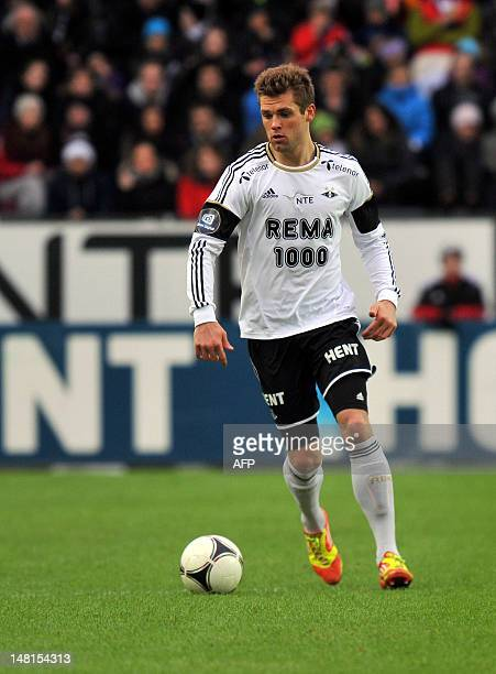 Photo dated on April 9 2012 shows Rosenborg's player Jim Larsen in Trondheim AFP PHOTO /SCANPIX / Ned Alley