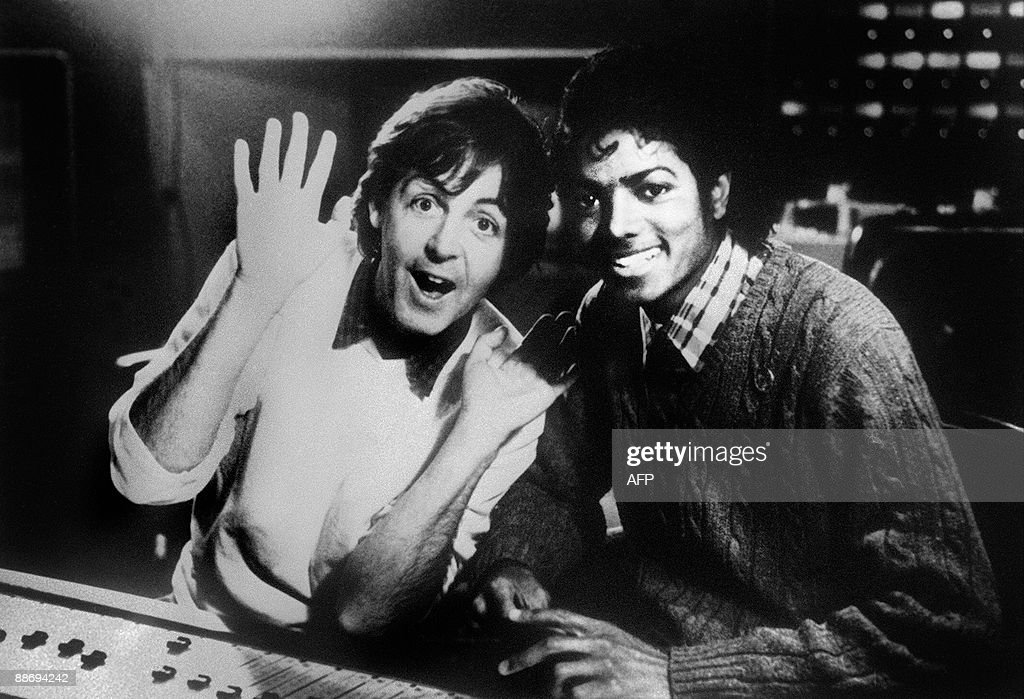 Photo dated on December 19 1983 shows British singer Paul McCartney and US pop star Michael Jackson Michael Jackson died on June 25 2009 after...
