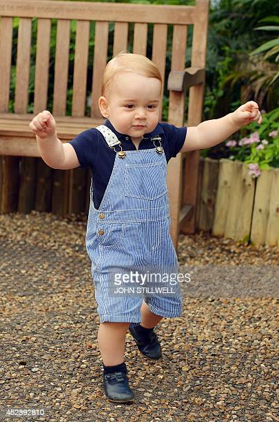 Photo dated on July 2 and released on July 19 2014 was taken to mark Prince George's first birthday and shows the Prince during a visit to the...