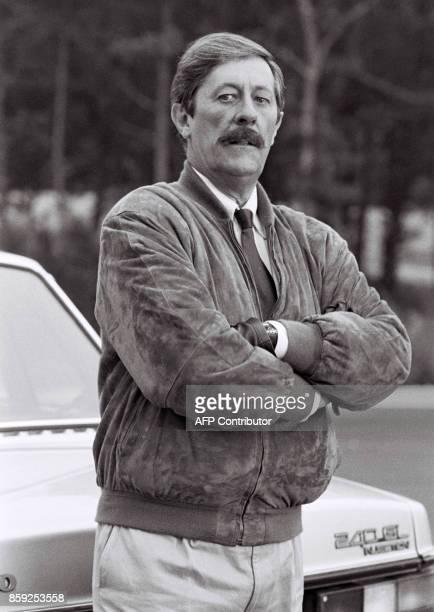 Photo de l'acteur français Jean Rochefort prise le 27 septembre 1986 à Orléans pendant le tournage du long métrage de Dominique Chaussois 'Le...