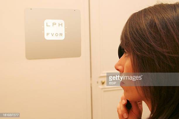 Photo Essay At An Optician Visual Test