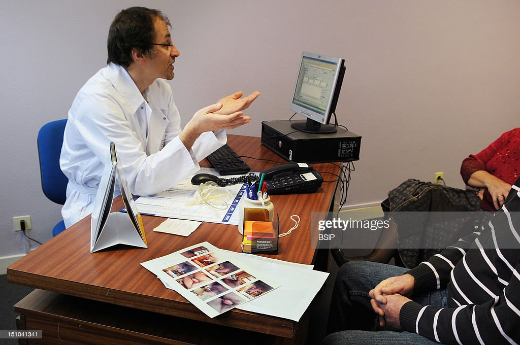 urology consult elderly person pictures getty images photo essay at henry gabrielle hospital in lyon urology consultation dr nicolas