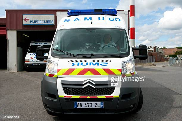 Photo Essay At Laennec Hospital In Creil France Truck Of The Emergency Ambulance Service At The Emergency Services