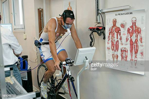 Photo Essay At Rouen Hospital France Sports Medecine Department Medical Exam With Stress Test To Measure The Quantity Of Oxygene Vo2 Consumed By The...