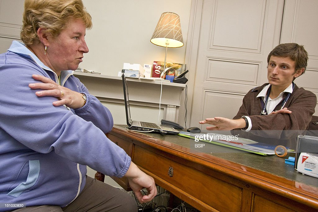Photo Essay From Doctor's Office, Nord, France. Consultation For The Renewal Of Treatment Of The Carpal Tunnel Syndrome.