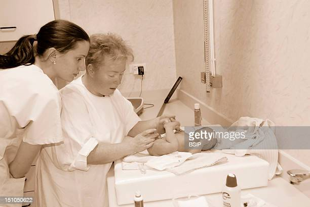 Photo Essay From Hospital Maternity Of The Hospital Center Rene Pleven Dinan Cotes D'Armor 22 France Newborn Baby Boy First Care Of The Newborn Baby...
