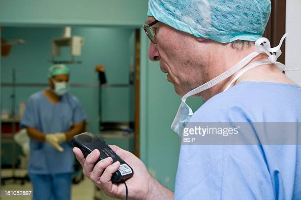 Photo Essay From Hospital South Francilien Hospital Louise Michel Hospital In Evry France Operating Room Implantation Of An Insulin Pump On The Image...