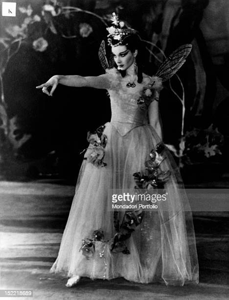 A photo exposed at the Biblioteca Comunale in Milan in occasion of the exhibition 'Shakespeare in the British Theatre' shows Vivien Leigh performing...