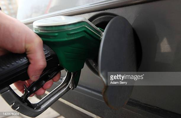 Photo illustration of a man refuelling his car at a Total gas station on April 3 2012 in Berlin Germany The Bundesrat one of the five constitutional...