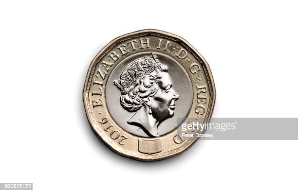 A photo illustration of a new pound coin on September 28 2017