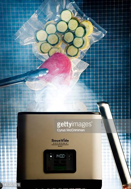 Photo illustration of a Sous Vide a new kitchen cooking device on Thursday May 5 2011 Food is sealed in plastic and cooked in this machine Cyrus...