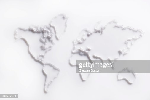 photo illustration of world map