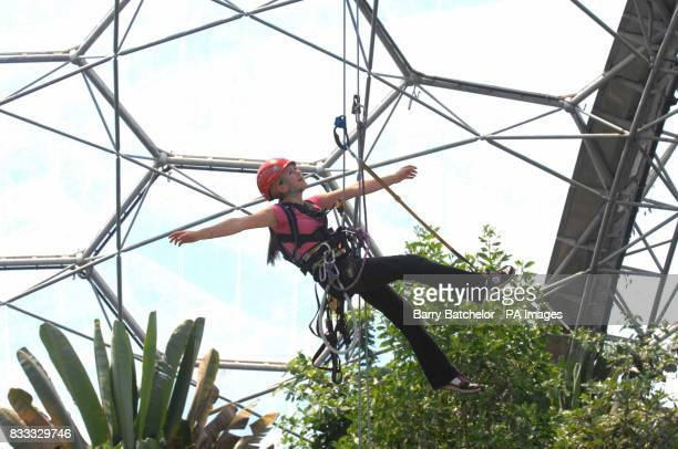 Photo Jodie Talbot in the tropical biome at the Eden Project