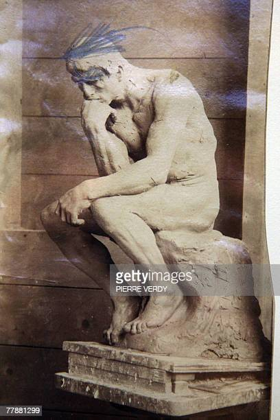A photo made in July 1882 by Victor Pannelier called 'The Thinker in front of the grame of The gates of hell' is exhibited at the Rodin Museum 13...