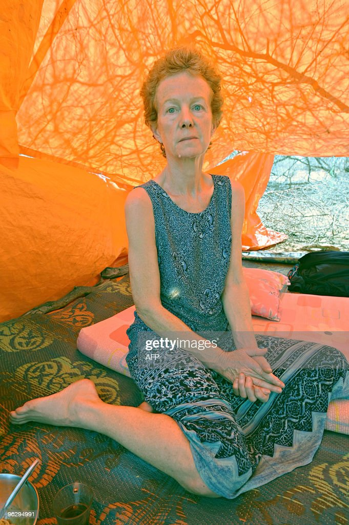 A photo made on January 28 2010 shows Briton Rachel Chandler at a location in central Somalia where she is being held since she and her husband Paul...