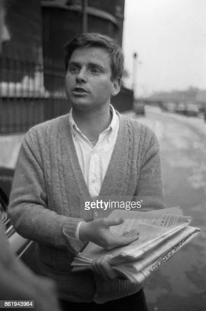 Photo non datée de Daniel CohnBendit leader du mouvement mai 68 Chef de file en 1968 du 'Mouvement du 22 mars' il est avec Jacques Sauvageot et Alain...
