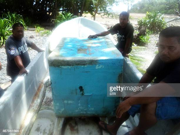 A photo obtained on February 6 2014 shows the claimed boat of Pacific castaway Jose Salvador Alvarenga of El Salvador shortly after his January 30...