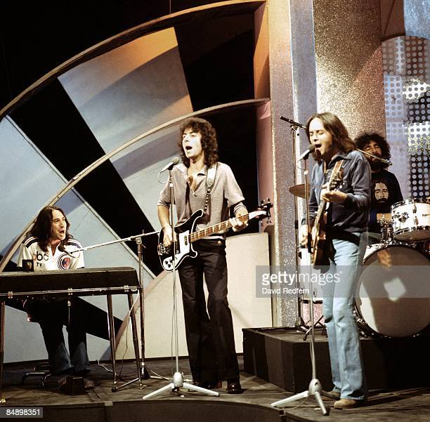 Lol Creme Graham Gouldman Eric Stewart Kevin Godley performing 'Rubber Bullets' on Top Of The Pops TV Show
