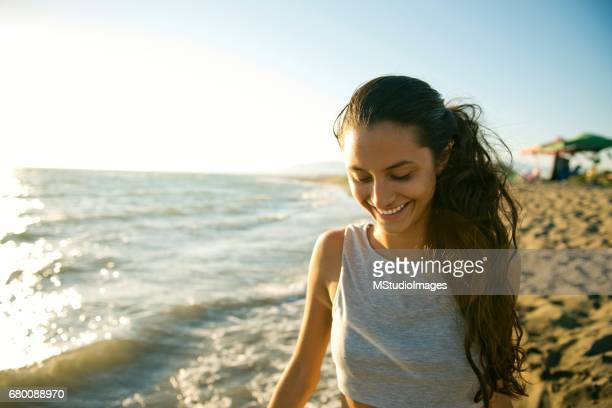 Photo of a beautiful smiling woman