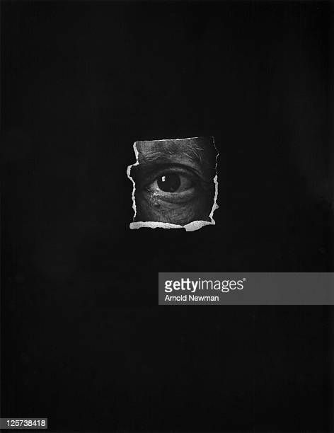 Photo of a collage created from a cut out of Pablo Picasso's eye derived from one of Arnold Newman's most wellknown portraits of the Spanish artist...