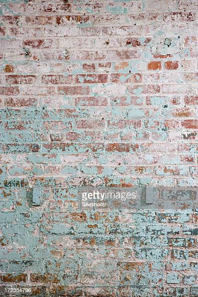 A photo of a colored brick wall