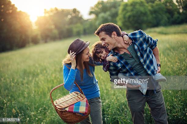 Photo of a family going for picnic