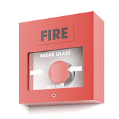 Fire alarm  isolated on a white background. 3d render