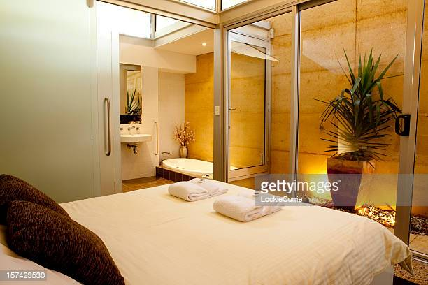 A photo of a large spa hotel room