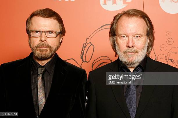 HOTEL Photo of ABBA and Benny ANDERSSON and Bjorn ULVAEUS Benny Andersson and Bjorn Ulvaeus posed at the 2008 Music Industry Trusts Award Dinner