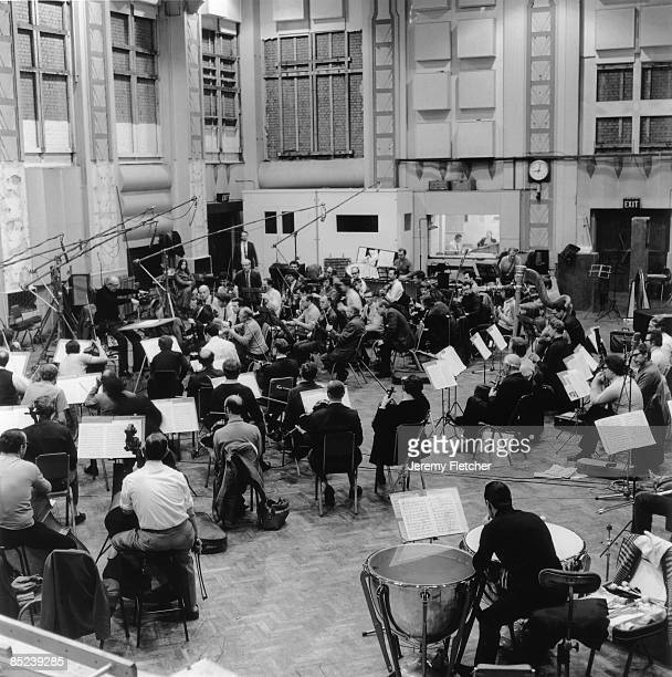ABBEY RD STUDIOS Photo of ABBEY ROAD and ORCHESTRA and RECORDING STUDIO