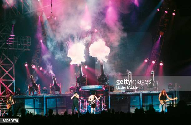 ARENA Photo of AC DC and AC/DC and Malcolm YOUNG and Brian JOHNSON and Angus YOUNG and Cliff WILLIAMS LR Malcolm Young Brian Johnson Angus Young...