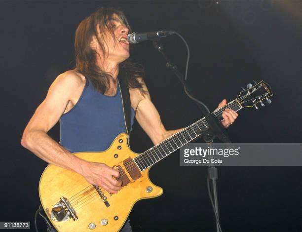 BALLROOM Photo of AC DC and AC/DC and Malcolm YOUNG Malcolm Young performing live onstage playing Gretsch 6131 Jet Firebird guitar Photo by George De...