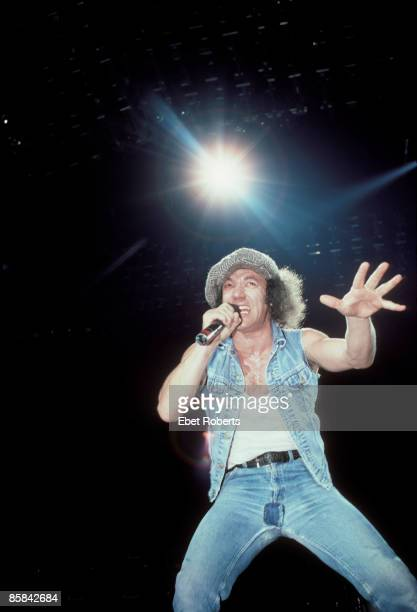 Photo of AC DC and Brian JOHNSON and AC/DC Brian Johnson performing live onstage