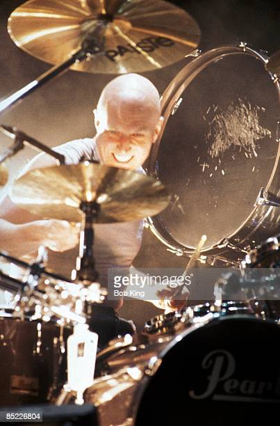 CENTRE Photo of AC DC and Chris SLADE and AC/DC Chris Slade performing live onstage