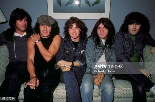 Photo of AC DC and Cliff WILLIAMS and AC/DC and Malcolm YOUNG and Simon WRIGHT and Brian JOHNSON and Angus YOUNG LR Cliff Williams Brian Johnson...