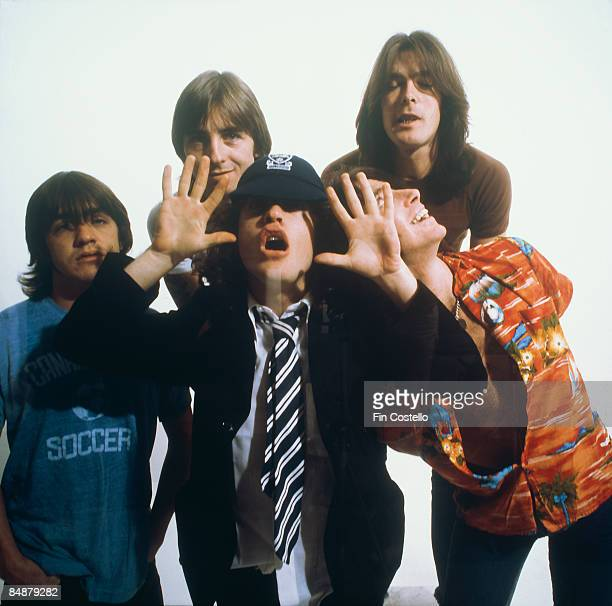CAMDEN Photo of AC DC and Malcolm YOUNG and Cliff WILLIAMS and Bon SCOTT and Angus YOUNG and AC/DC and Phil RUDD LR Malcolm Young Phil Rudd Angus...
