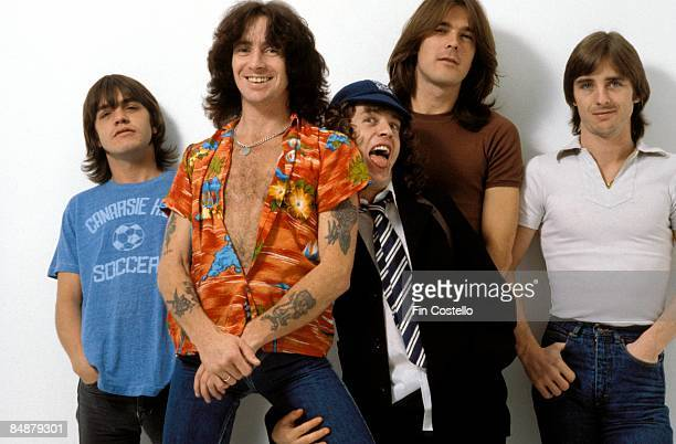 CAMDEN Photo of AC DC and Malcolm YOUNG and Cliff WILLIAMS and Bon SCOTT and Angus YOUNG and AC/DC and Phil RUDD LR Malcolm Young Bon Scott Angus...